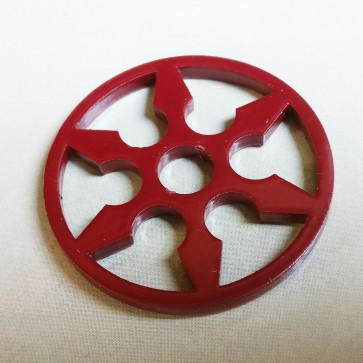 Coloured Steel 45 Adaptor Burgundy Shuriken