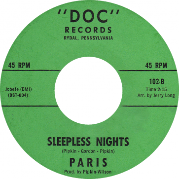 Northern Soul Classics & Rarities - Label Sticker - Paris