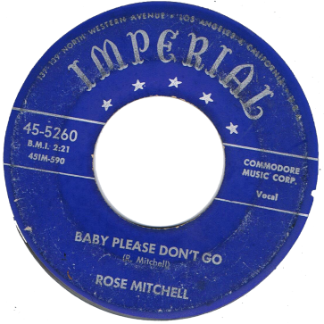 RnB Classics & Rarities - Label Sticker - Rose Mitchell