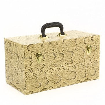 NEW Large Double Snakeskin 45 Record Box