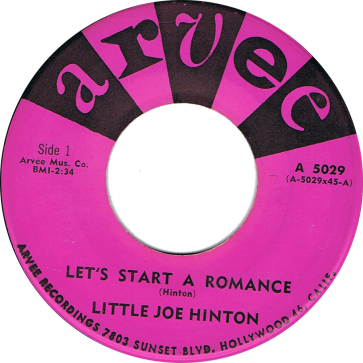 RnB Classics & Rarities - Label Sticker - Little Joe Hinton