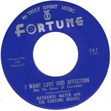 RnB Classics & Rarities - Label Sticker - Nathaniel Mayer