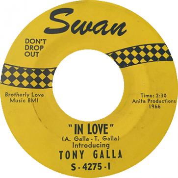 Northern Soul Classics & Rarities - Label Sticker - Tony Galla