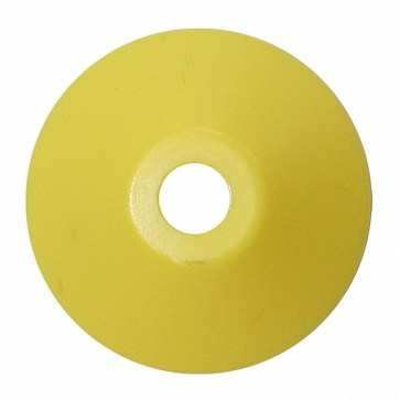 Plastic Cone Shape Record Centre Adaptor Yellow