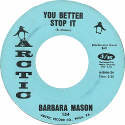 Northern Soul Classics & Rarities - Label Sticker - Barbara Mason