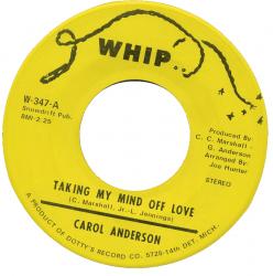 Northern Soul Classics & Rarities - Label Sticker - Carol Anderson