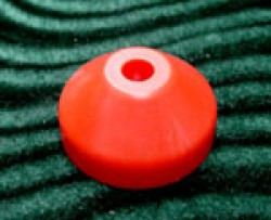 Plastic Cone Shape Record Centre Adaptor Red