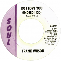 Northern Soul Classics & Rarities - Label Sticker - Frank Wilson