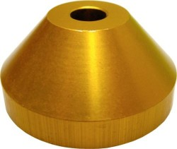 Aluminium 45rpm Centre Adaptor Gold