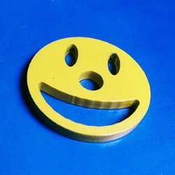 Stainless Steel 45 Adaptor Smiley