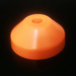 Plastic Cone Shape Record Centre Adaptor Orange