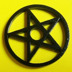 Coloured Steel 45 Adaptor Black Pentangle