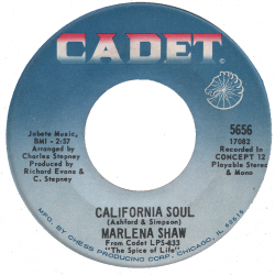 Northern Soul Classics & Rarities - Label Sticker - Marlena Shaw