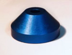 Aluminium 45rpm Centre Adaptor Dark Blue
