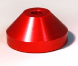 Aluminium 45rpm Centre Adaptor Red