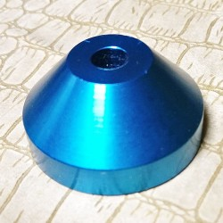Aluminium 45rpm Centre Adaptor Light Blue
