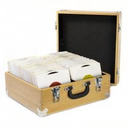 """PRO XL Antique Pine 7"""" Record Case"""