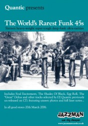Quantic presents the Worlds Rarest Funk 45s - Poster