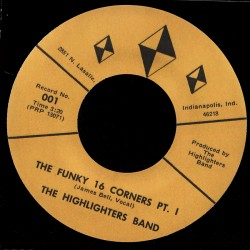 Deep Funk Rarities - Label Sticker - The Highlighters Band