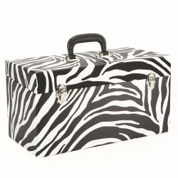 NEW Large Double Zebraskin 45 Record Box