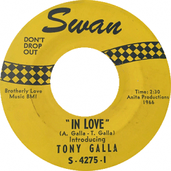 Northern Soul Classics & Rarities - Label Sticker - Tony Galla