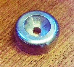 Aluminium 45rpm Centre Adaptor Vortex